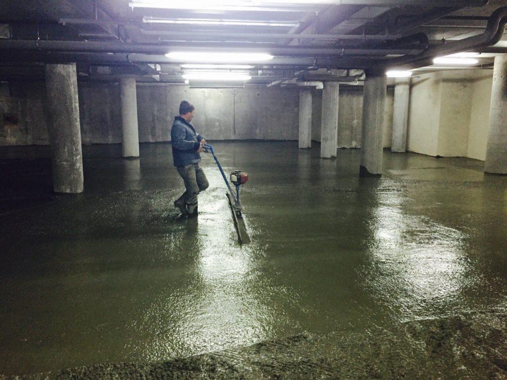 Влаштування бетонної підлоги 1