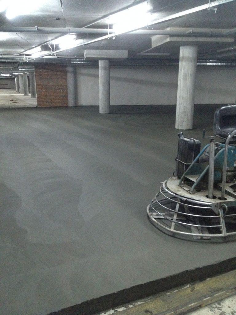 Влаштування бетонної підлоги 2