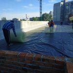 Тепло и гидроизоляция кровли бизнес-центра в Киеве 5