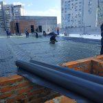 Тепло и гидроизоляция кровли бизнес-центра в Киеве 3