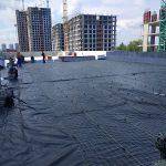 Тепло и гидроизоляция кровли бизнес-центра в Киеве 2