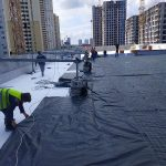 Тепло и гидроизоляция кровли бизнес-центра в Киеве 7