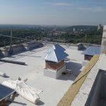 Роботи по влаштуванню теплоізоляції і гідроізоляції покрівлі в ЖК Orange City 6