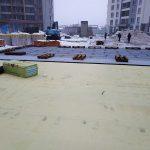 Устройству тепло и гидроизоляции кровли в ЖК Каховская 5