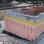 Роботи по влаштуванню підземної гідроізоляції поверхонь стін в КГ Riviera Village 2